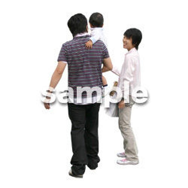 人物切抜き素材 カジュアル・ショッピング編 E_159