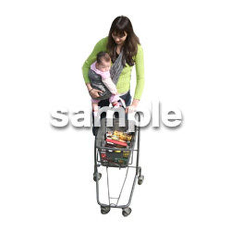 人物切抜き素材 カジュアル・ショッピング編 E_276
