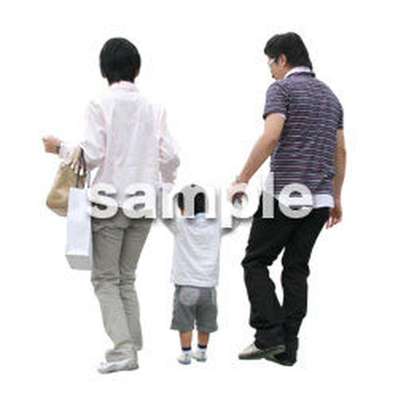 人物切抜き素材 カジュアル・ショッピング編 E_161