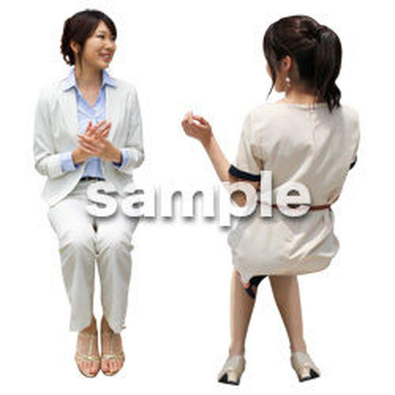 人物切抜き素材 座る人Ⅱ編 Q_059