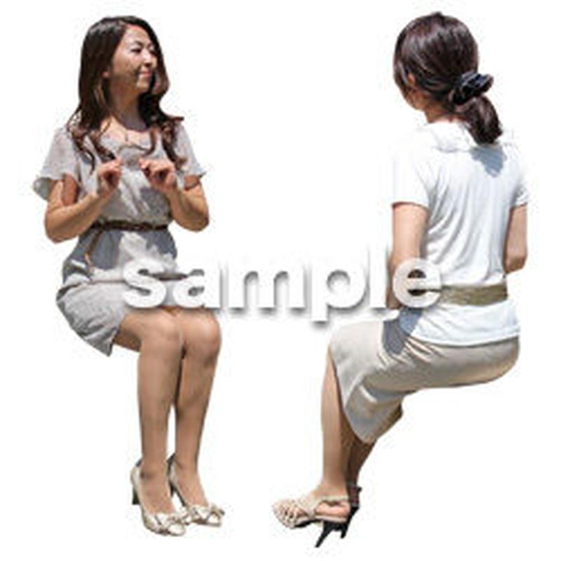 人物切抜き素材 座る人Ⅱ編 Q_054