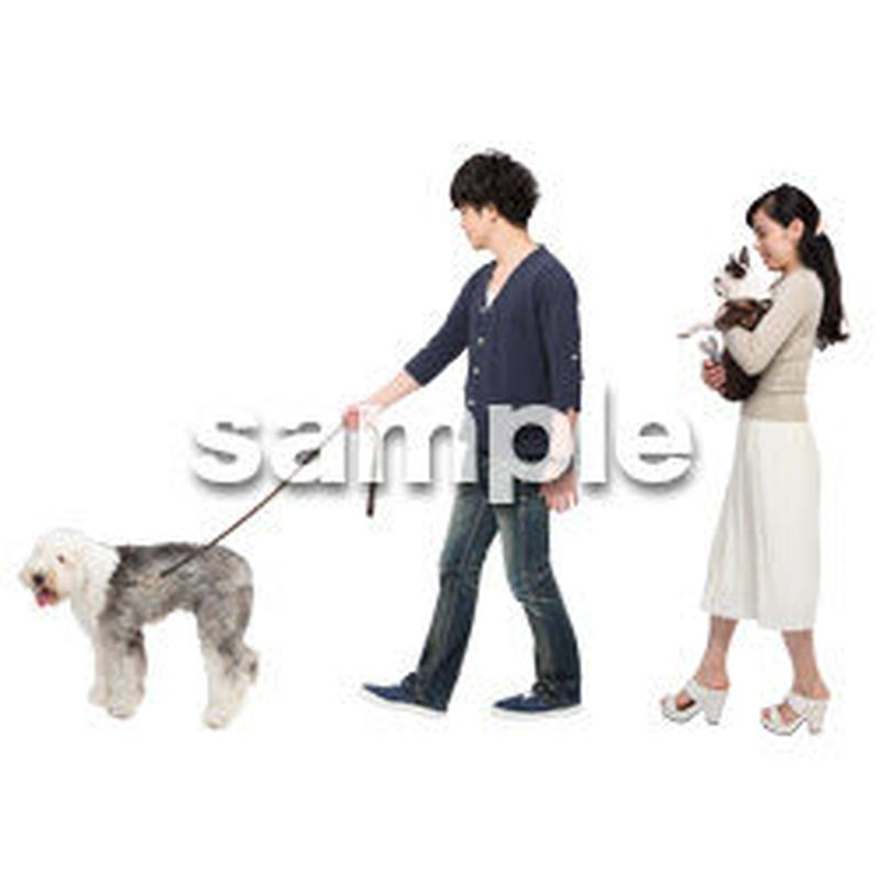 Cutout People 犬の散歩 II_478