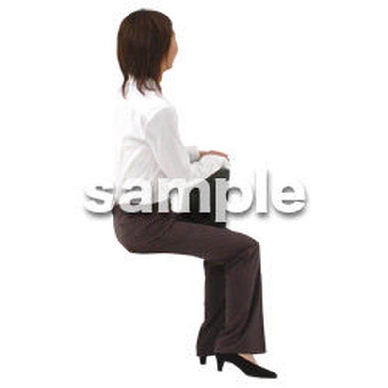 人物切抜き素材 座る人編 H_400