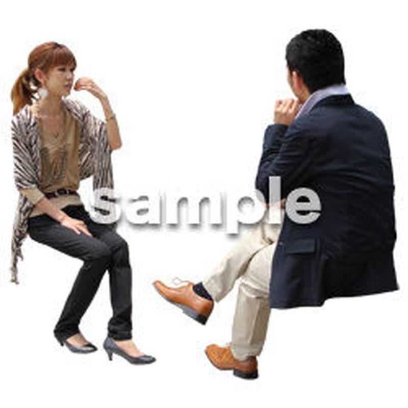 人物切抜き素材 アーバン・ショッピング編 M_354