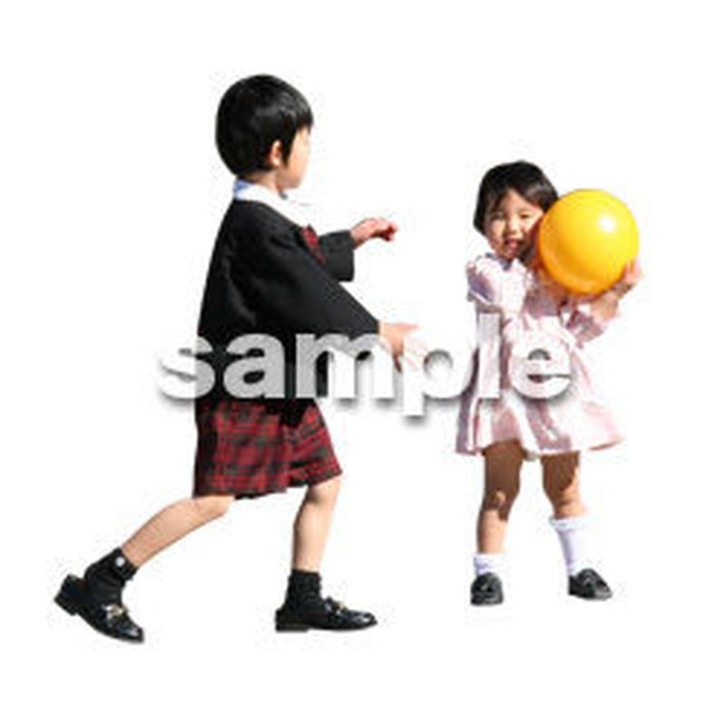 人物切抜き素材 ファミリー編 F_323