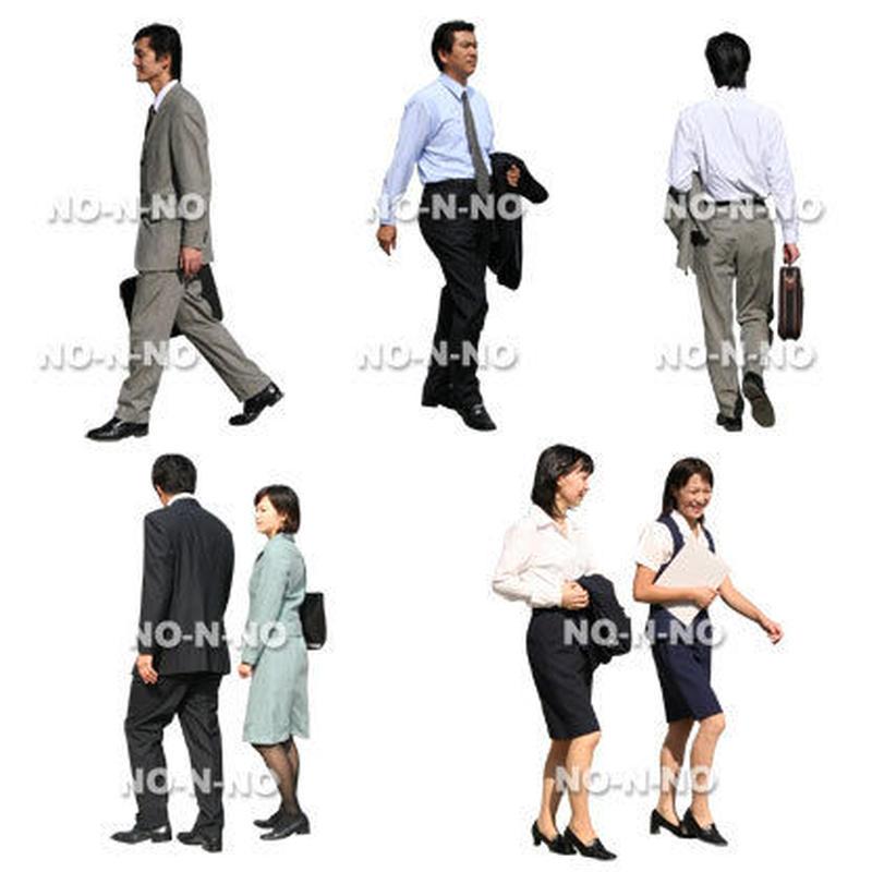 人物切抜きセット☆オフィス 8set015