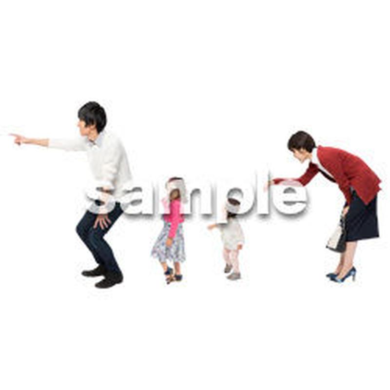Cutout People 4人ファミリー GG_473