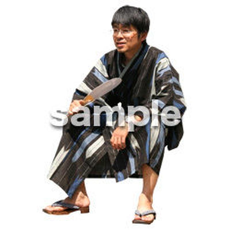 人物切抜き素材 夏服・フィットネス編 J_055