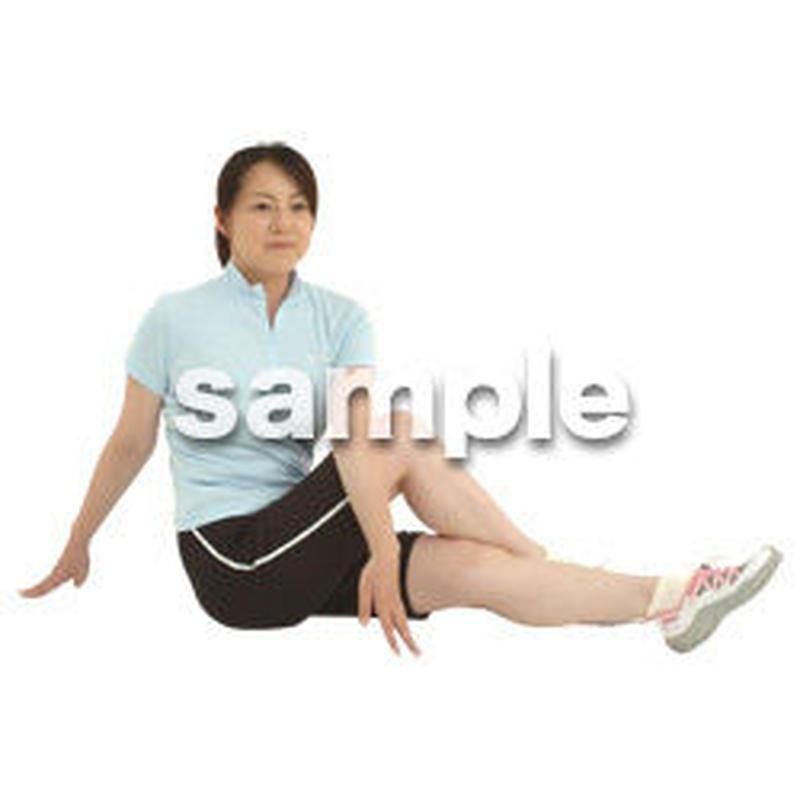 人物切抜き素材 夏服・フィットネス編 J_490