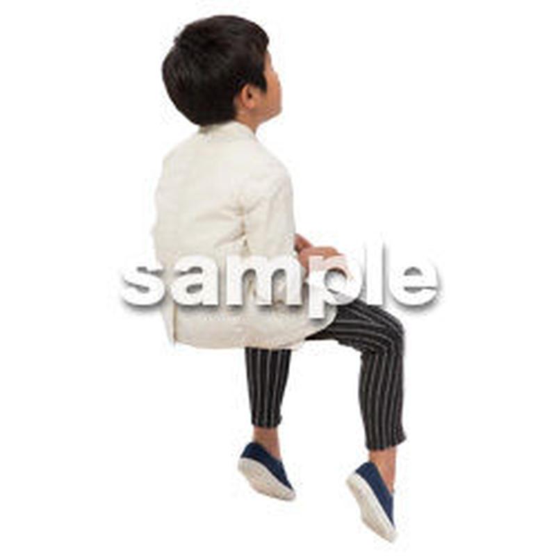 Cutout People 座る 男の子 LL_544