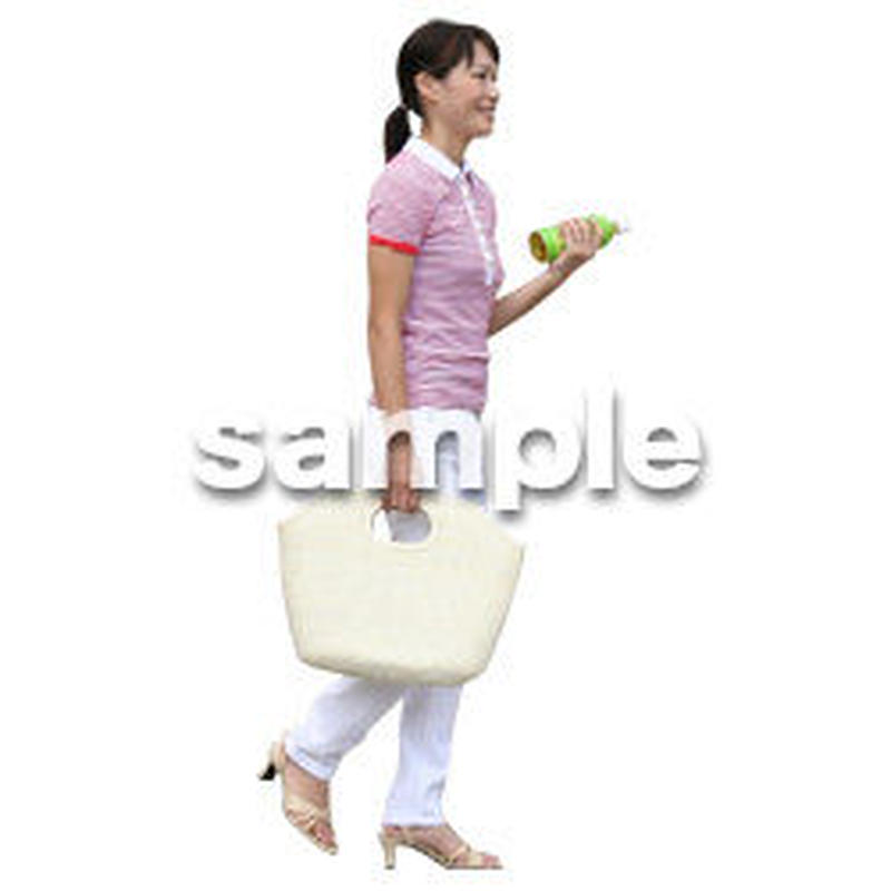 人物切抜き素材 夏服・フィットネス編 J_188