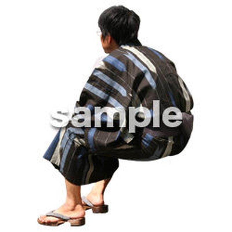 人物切抜き素材 夏服・フィットネス編 J_057