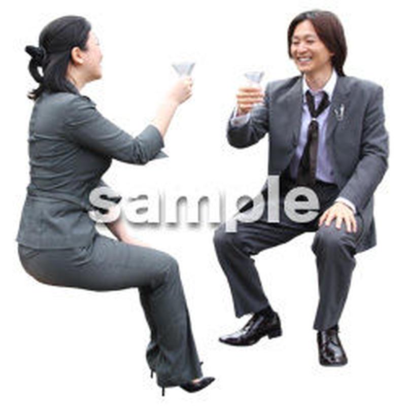 人物切抜き素材 アーバン・ショッピング編 M_340