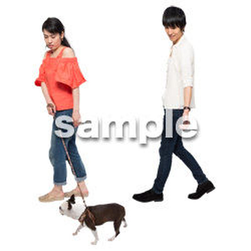 Cutout People 犬の散歩 II_473