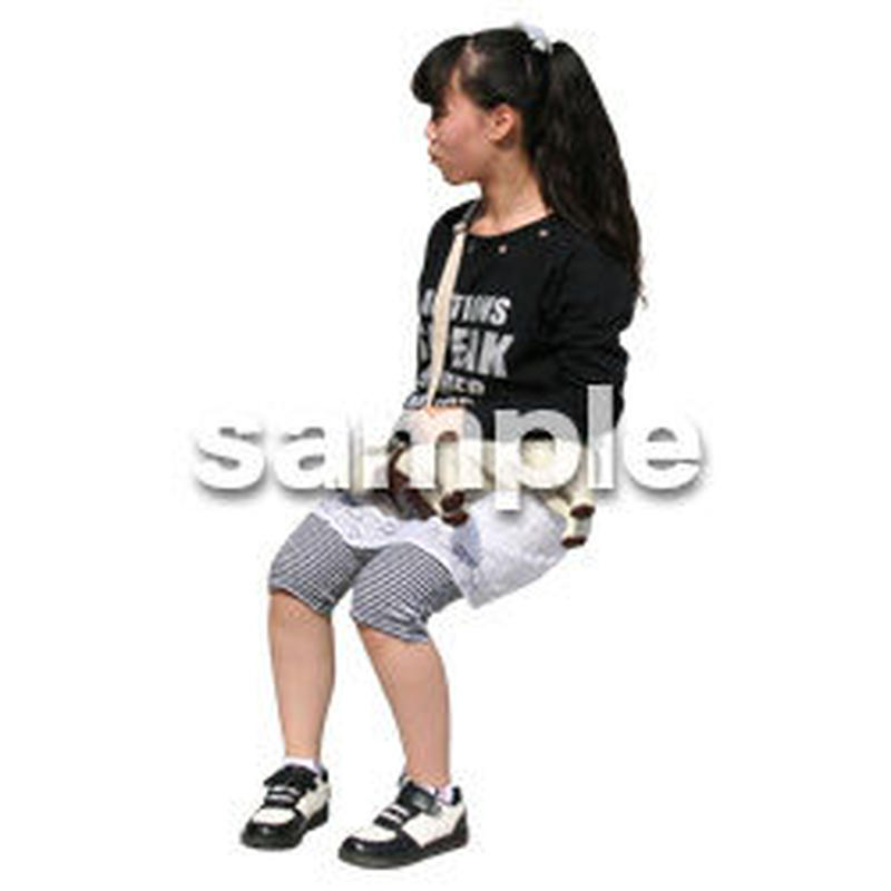 人物切抜き素材 座る人編 H_594