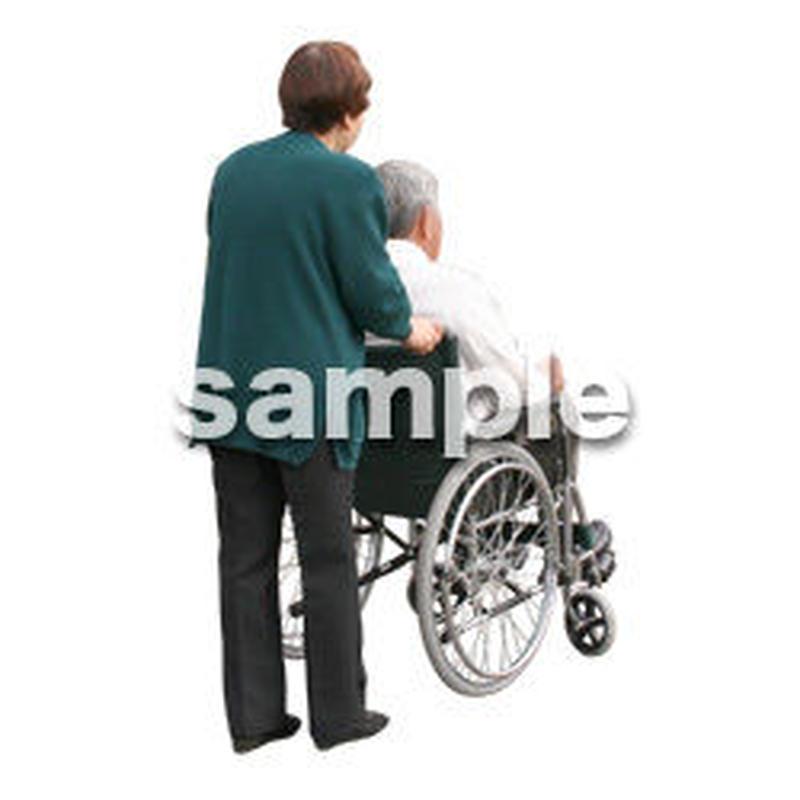 人物切抜き素材 医療・シニア車椅子編 D_276