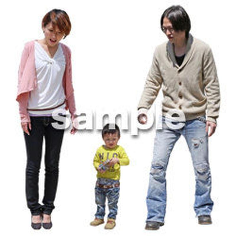人物切抜き素材 ショッピングモール護編 T_192