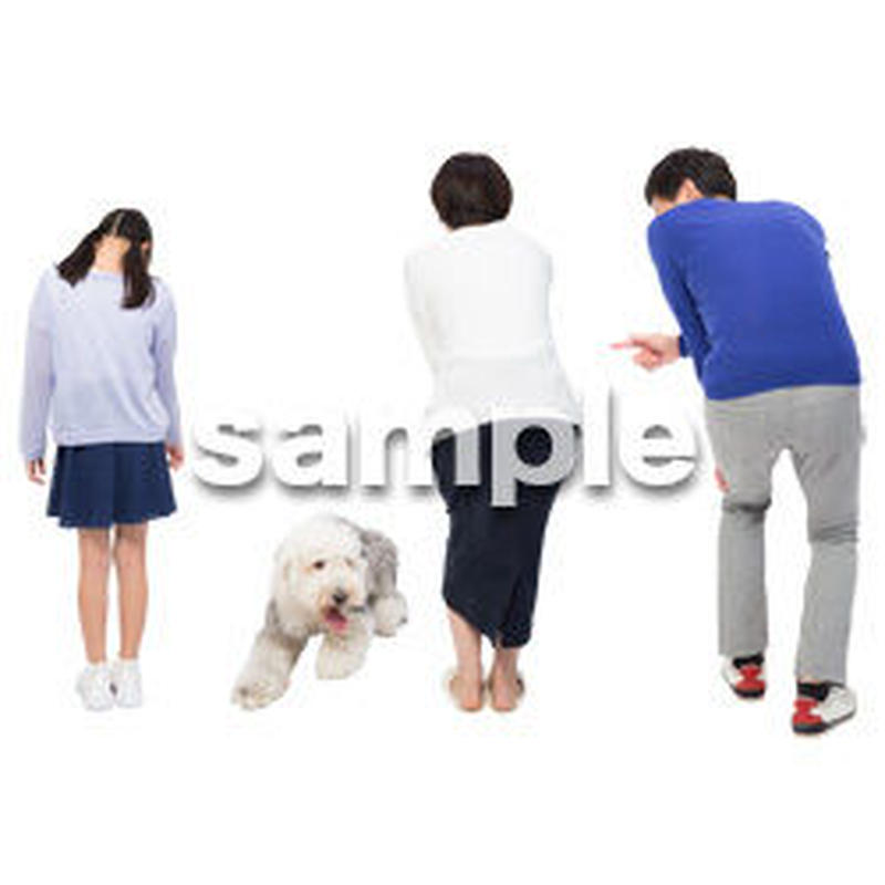 Cutout People 犬の散歩 II_495
