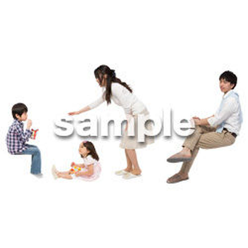 Cutout People 4人家族 II_323