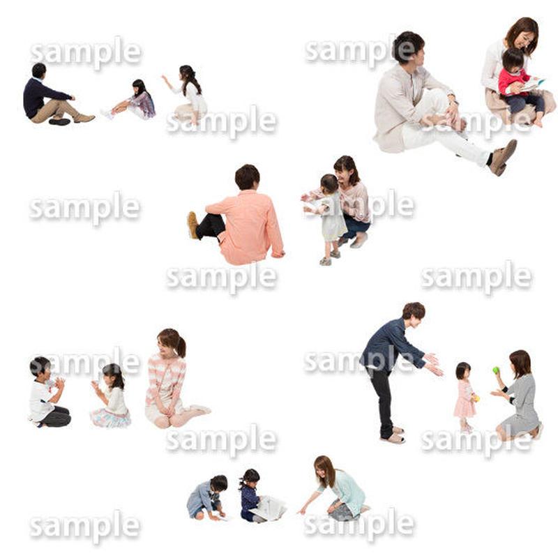 人物切抜きセット☆アットホーム 1_set141