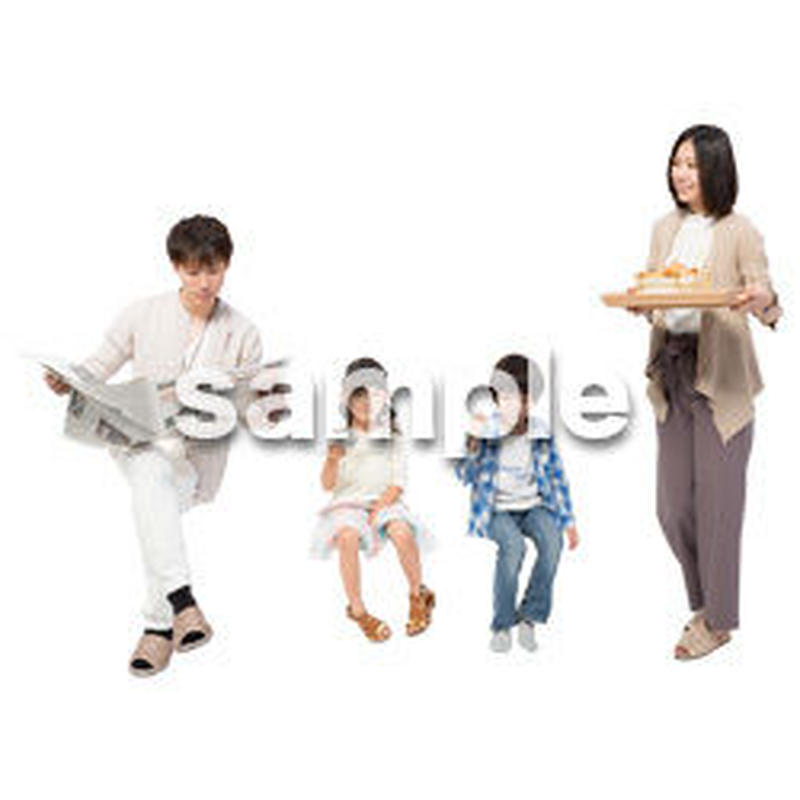 Cutout People 4人家族 II_351