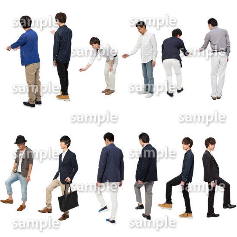 人物切抜きセット☆ショッピング 1_set163