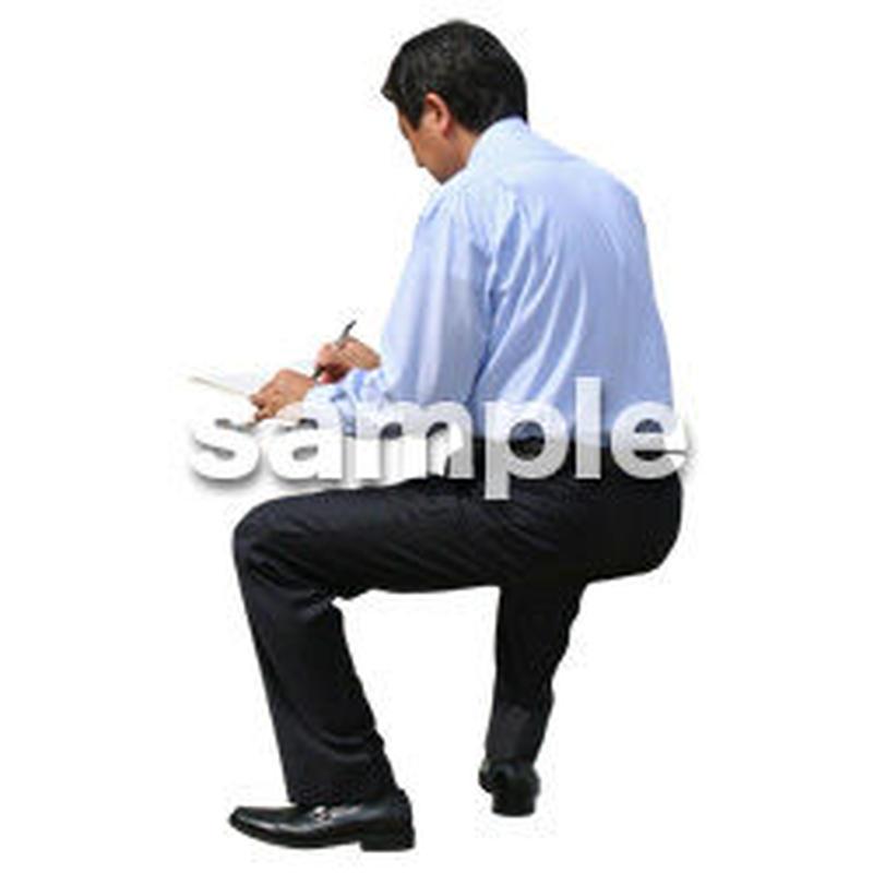 人物切抜き素材 座る人編 H_220