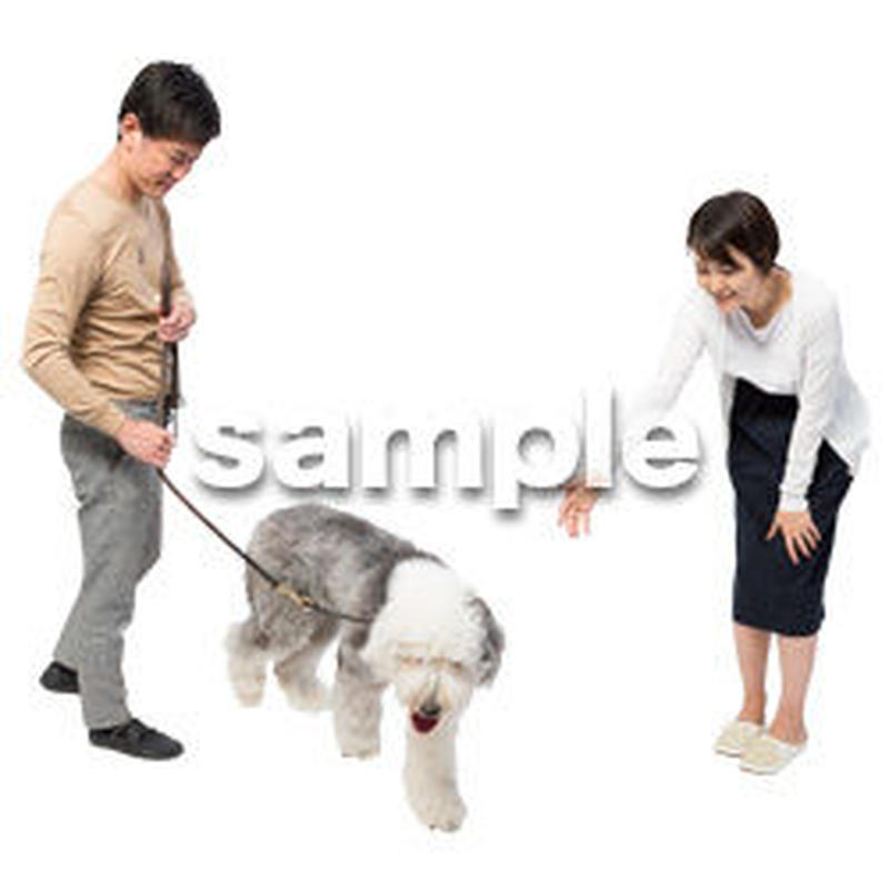 Cutout People 犬の散歩 II_488