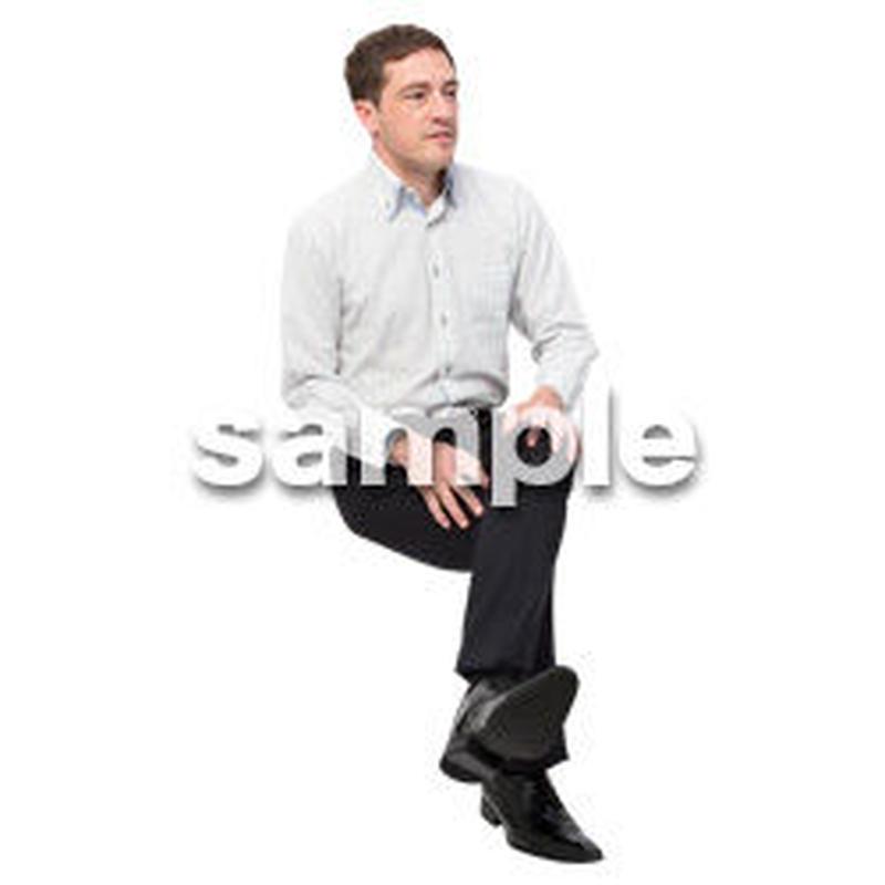 Cutout People 座る 外国人男性 LL_581