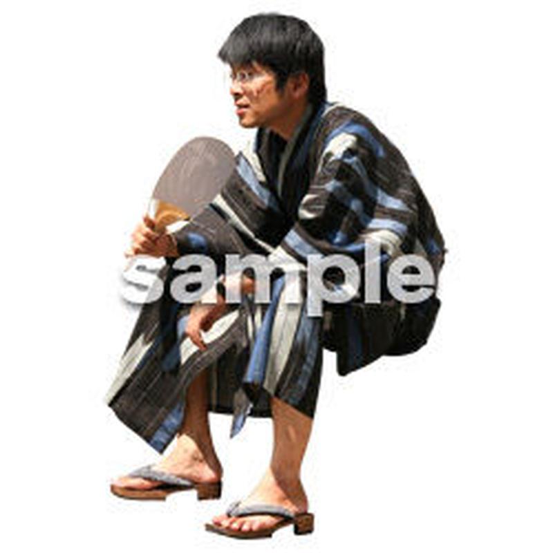 人物切抜き素材 夏服・フィットネス編 J_056