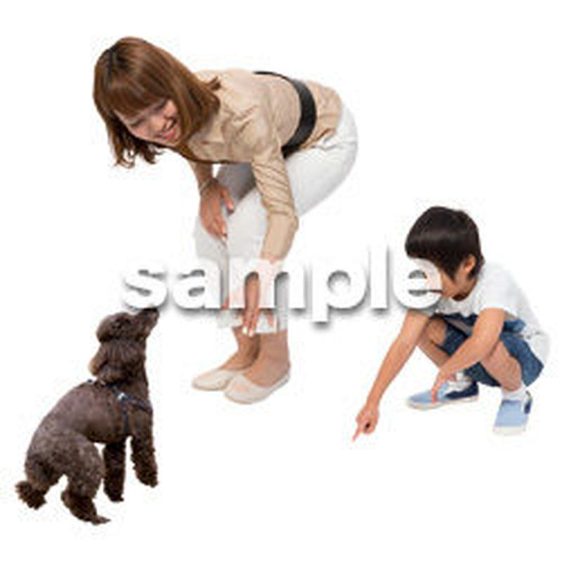 Cutout People 犬の散歩 II_482