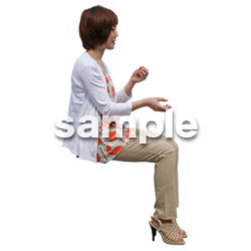 人物切抜き素材 座る人Ⅱ編 Q_318
