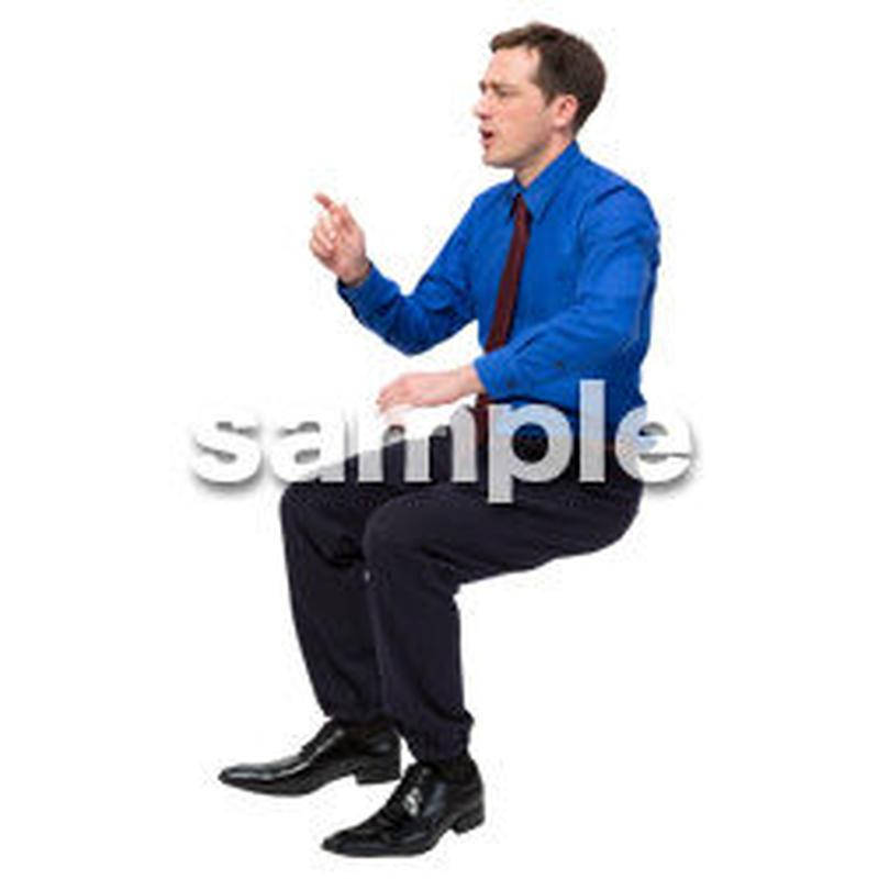 Cutout People 座る 外国人男性 LL_562