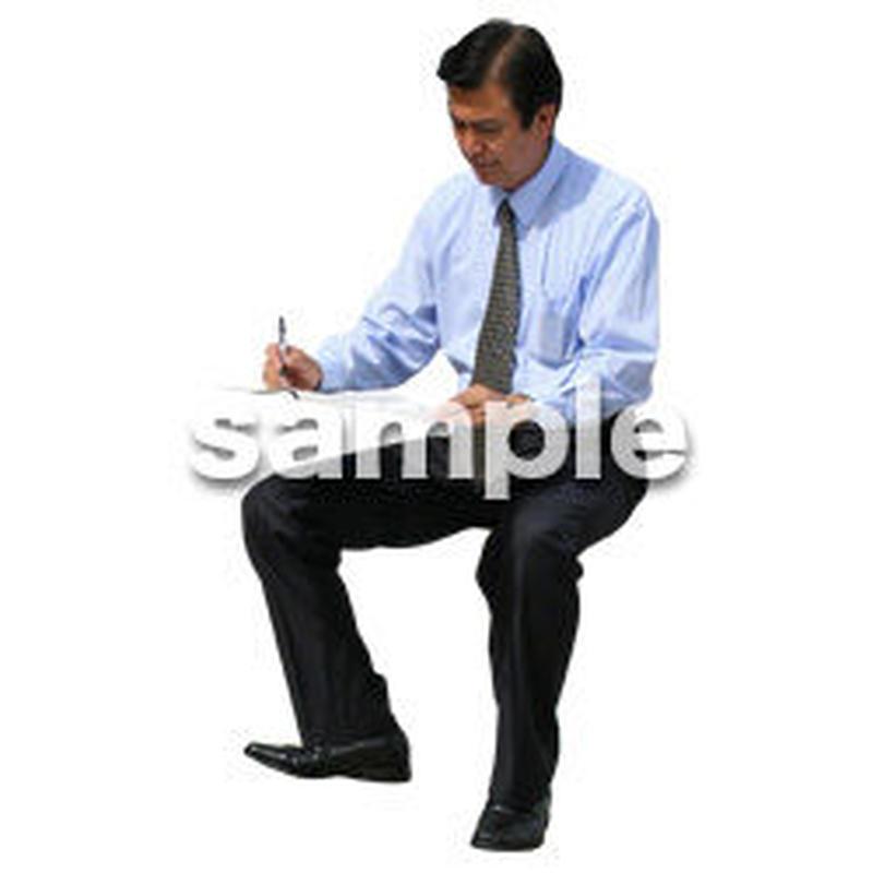 人物切抜き素材 座る人編 H_215