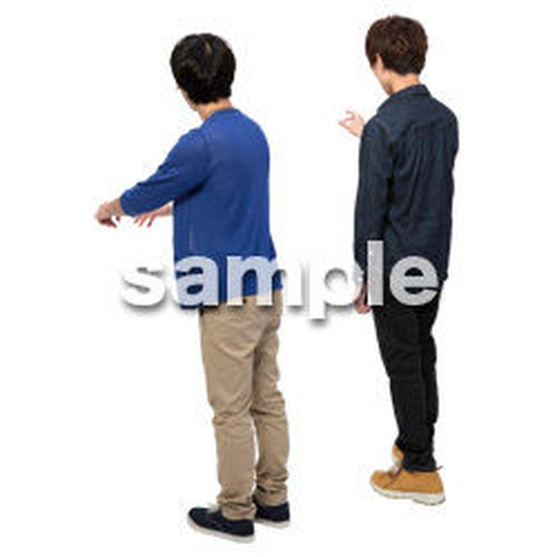 Cutout People 男性ペア JJ_424