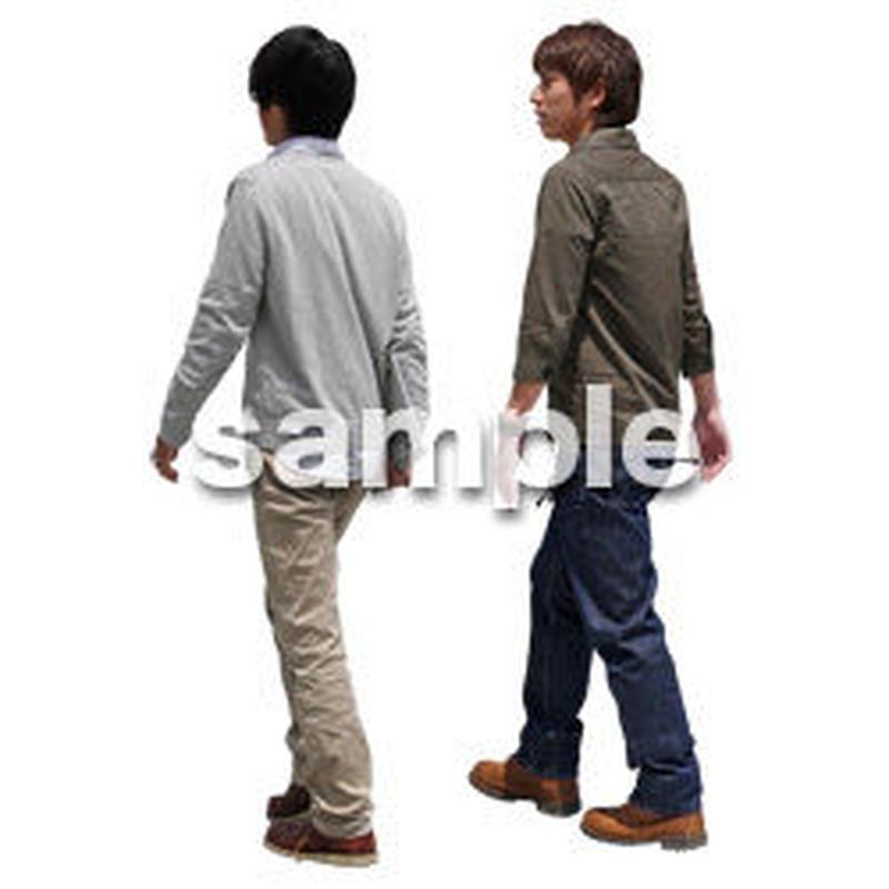 人物切抜き素材 ショッピングモール護編 T_404