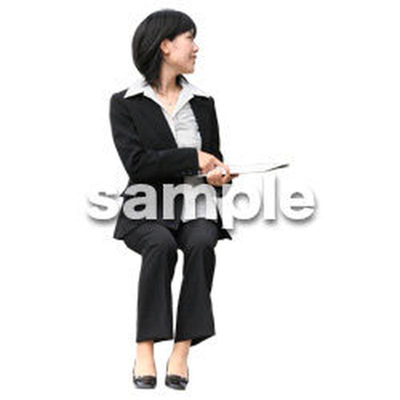 人物切抜き素材 座る人編 H_390