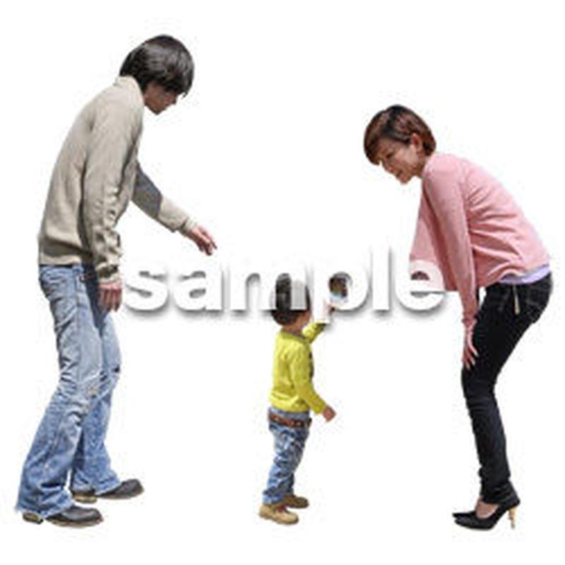 人物切抜き素材 ショッピングモール護編 T_193