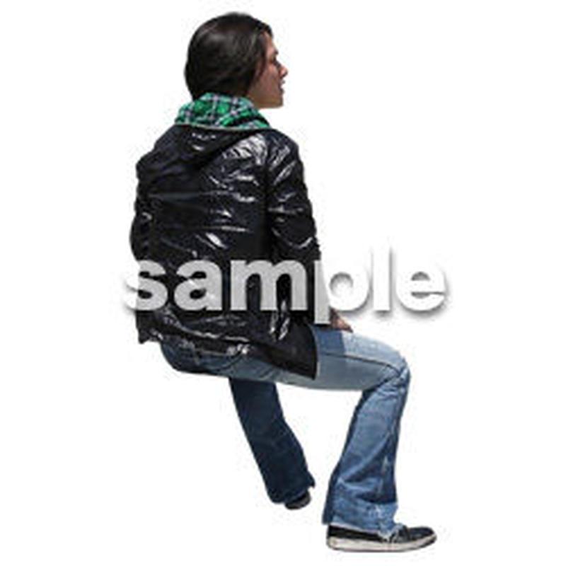 人物切抜き素材 座る人Ⅱ編 Q_580