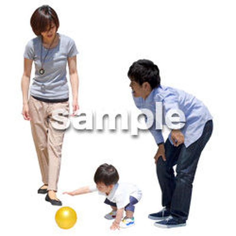 人物切抜き素材 ショッピングモール護編 T_198