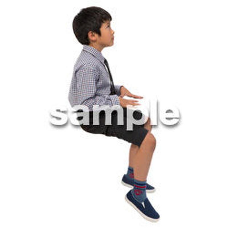 Cutout People 座る 男の子 LL_538