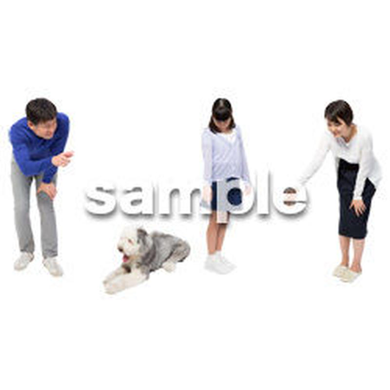 Cutout People 犬の散歩 II_491