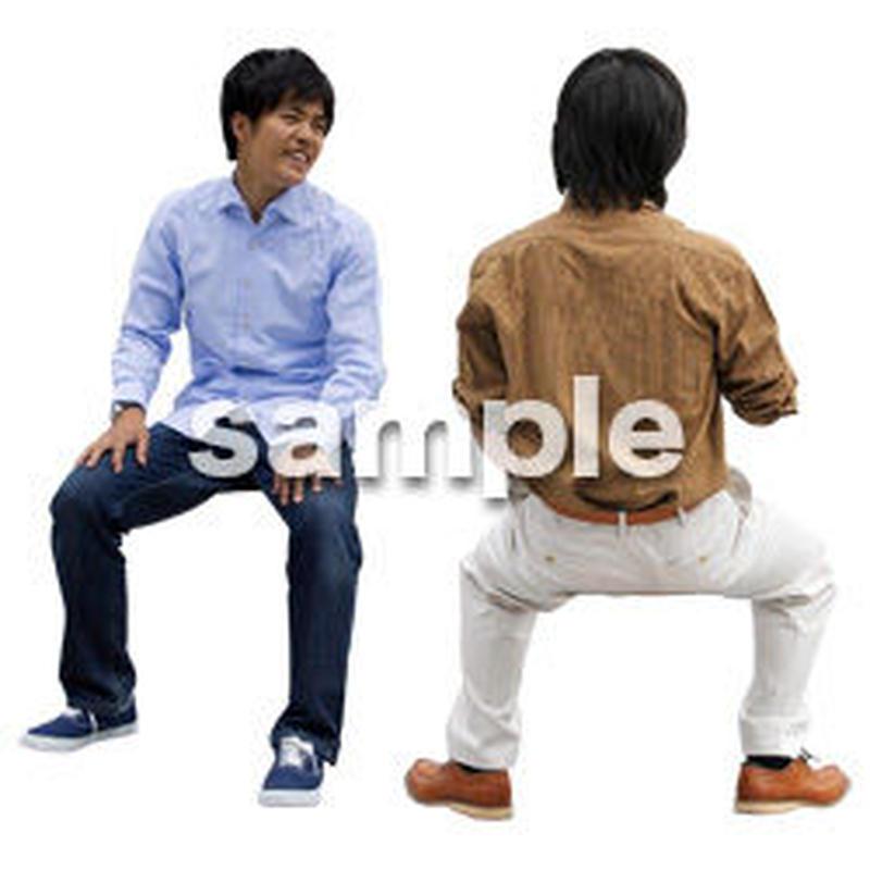 人物切抜き素材 座る人Ⅱ編 Q_067