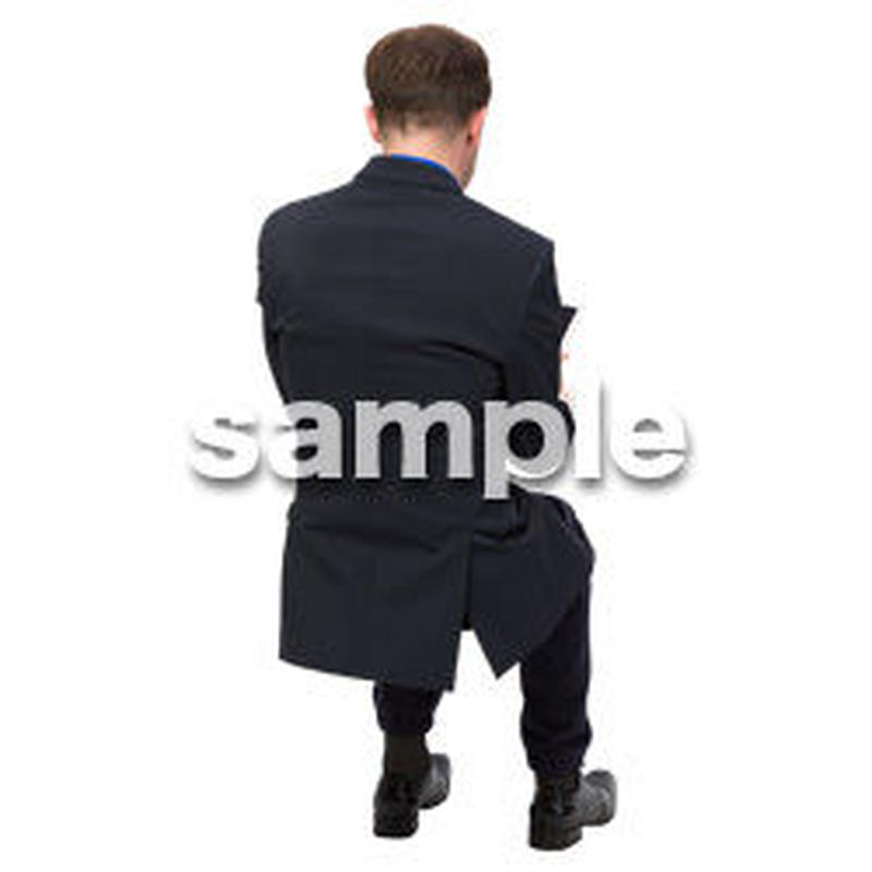Cutout People 座る 外国人男性 LL_560