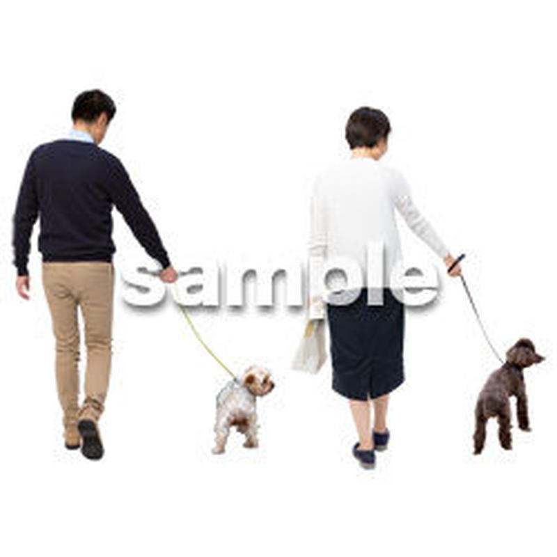Cutout People 犬の散歩 II_470