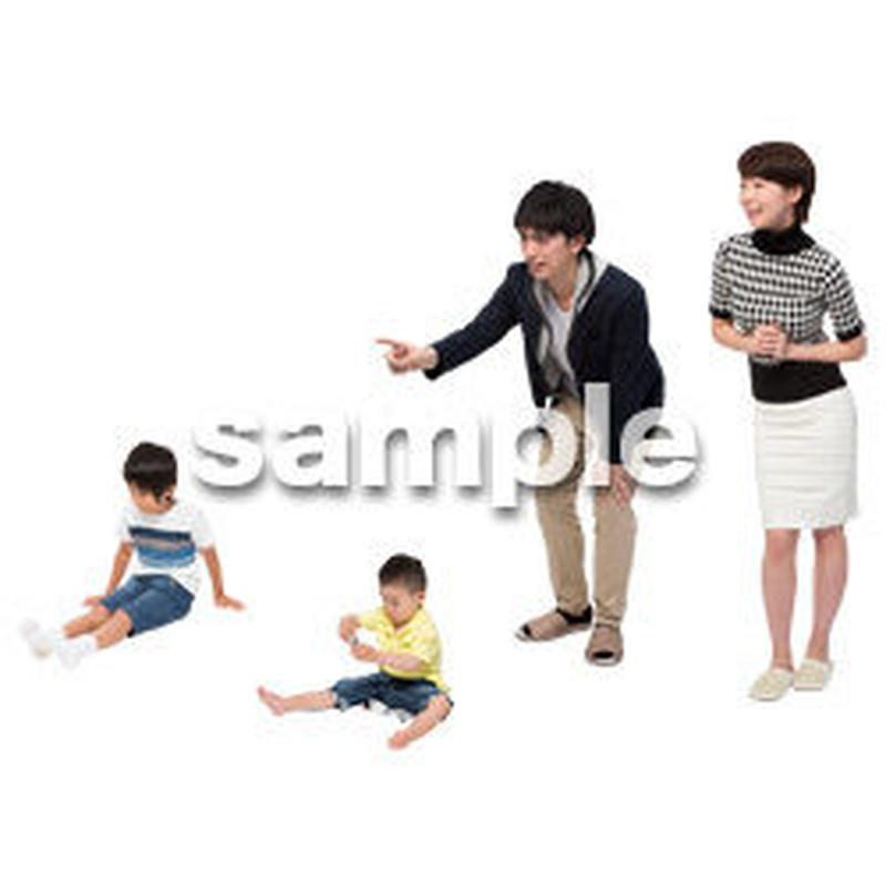 Cutout People 4人家族 II_327