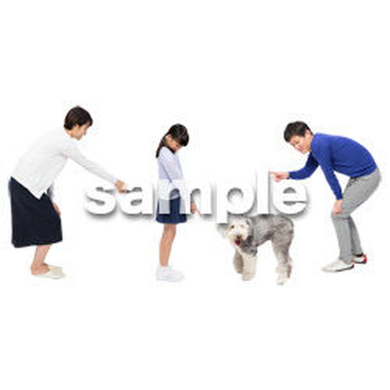 Cutout People 犬の散歩 II_493