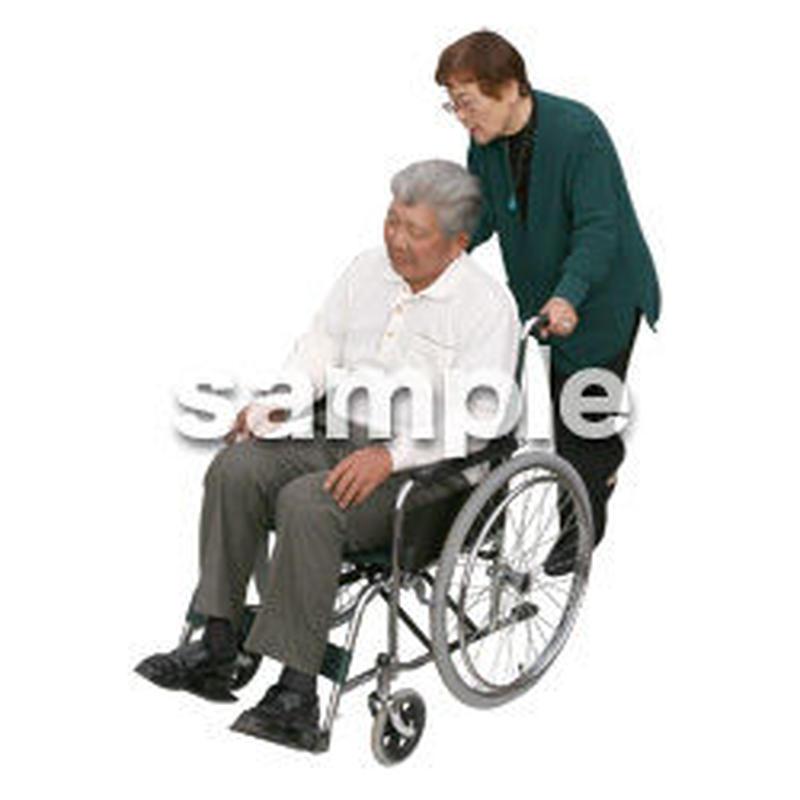 人物切抜き素材 医療・シニア車椅子編 D_279