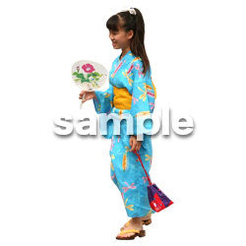 人物切抜き素材 夏服・フィットネス編 J_042
