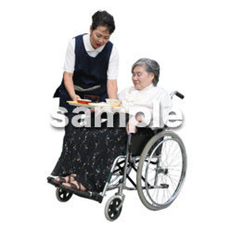 人物切抜き素材 医療・シニア車椅子編 D_292